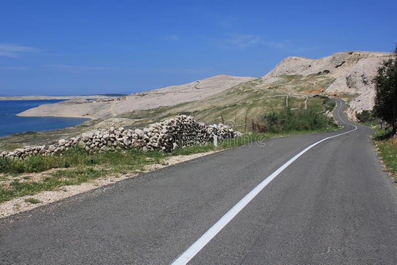 A estrada retifica a natureza fotos de stock