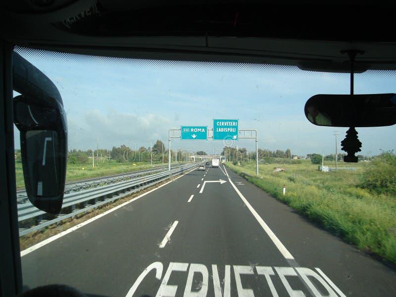 Estrada a Roma, Itália imagem de stock
