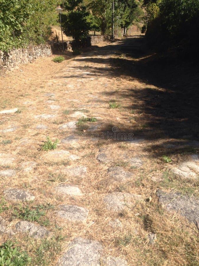 Estrada romana imagem de stock