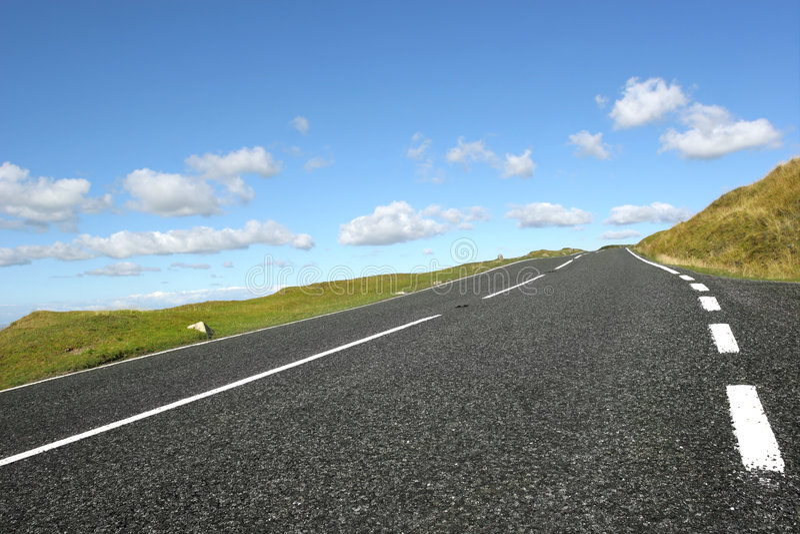 Estrada rural foto de stock
