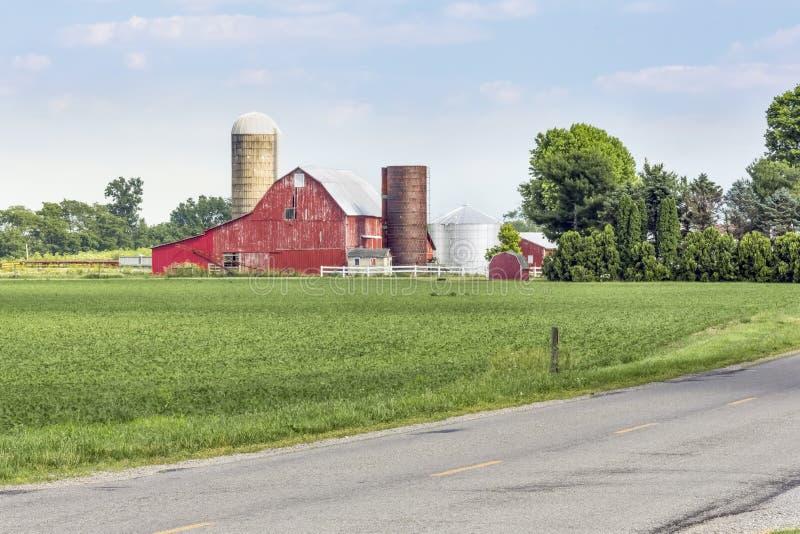 Estrada rural de Ohio fotos de stock