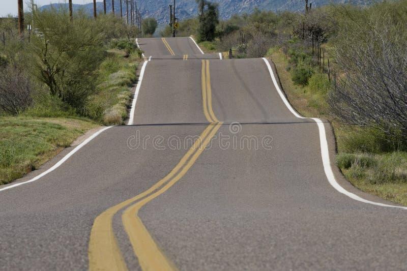 Estrada rural instável imagem de stock