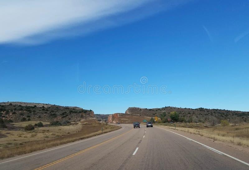 Estrada rural no Colorado, Estados Unidos imagens de stock