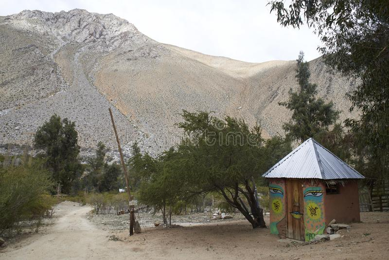 Estrada rural no vale de Elqui fotografia de stock royalty free