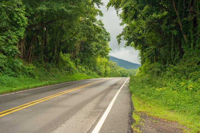 Estrada só nas montanhas imagens de stock royalty free