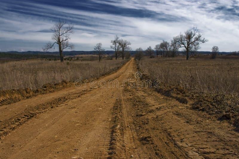 Estrada secundária. imagens de stock