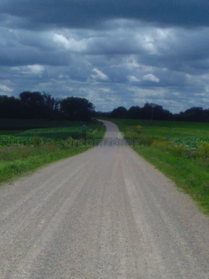 Estrada secundária fotografia de stock royalty free