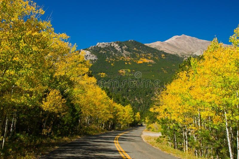 Estrada secundária da queda de Colorado imagens de stock royalty free