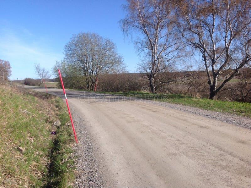 Estrada secundária em abril fotos de stock royalty free