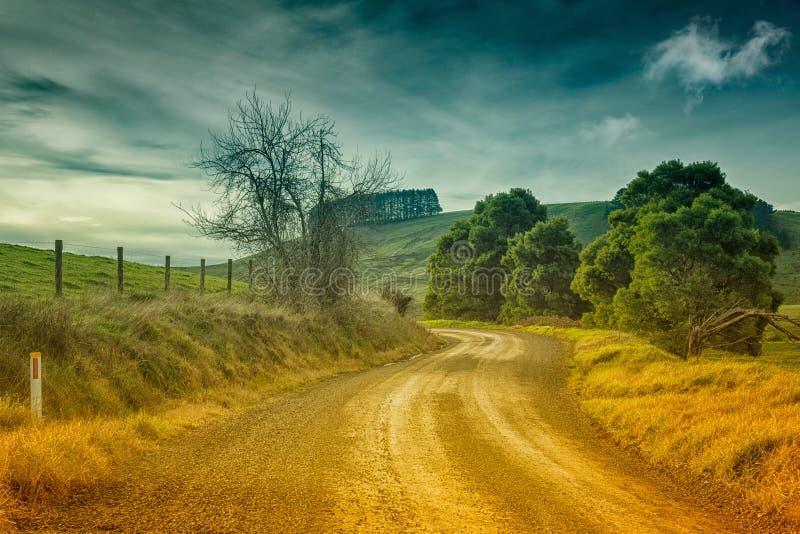 Estrada secundária em Austrália imagens de stock