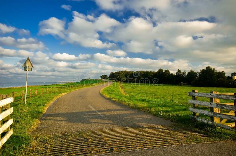 Estrada secundária no netherland foto de stock royalty free