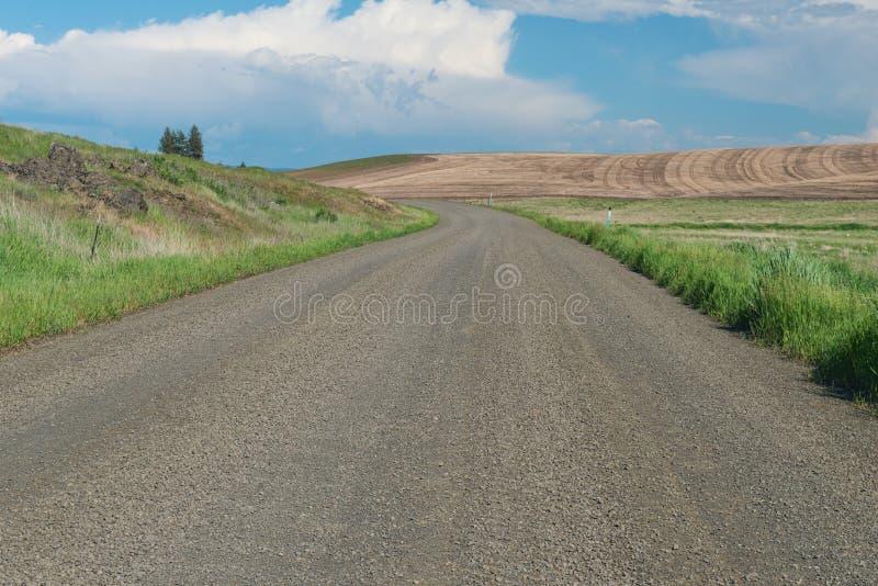 Estrada secundária no outono imagem de stock royalty free