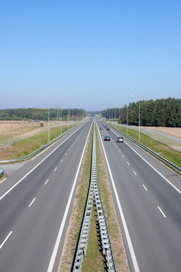 Estrada simples - em poland s 3 fotografia de stock