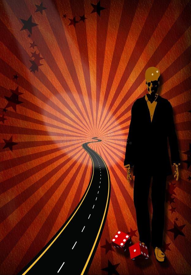 Estrada a sin cidade ilustração do vetor