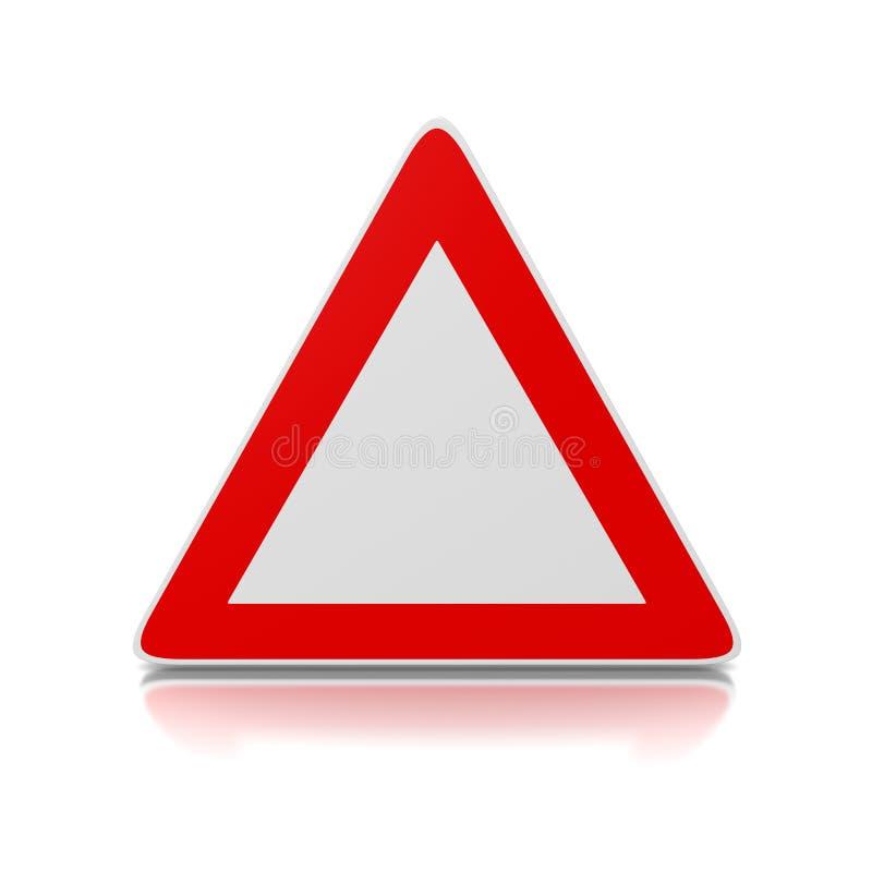 Estrada-sinal do triângulo ilustração stock