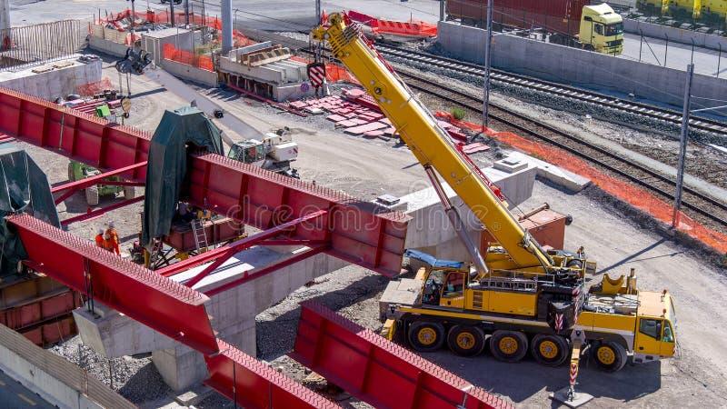 Estrada Sob A Reconstrução Foto de Stock