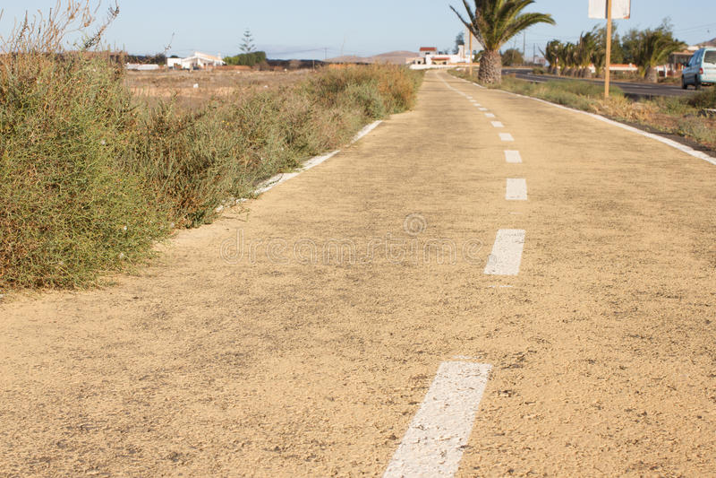 Estrada suja Fora da estrada, salta a grama seca Deserto, palma, terra, maneira de pedra fotos de stock