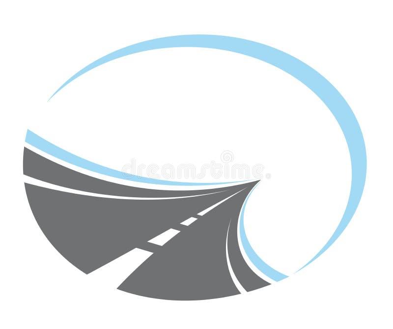 Estrada Tarred que desaparece ilustração royalty free