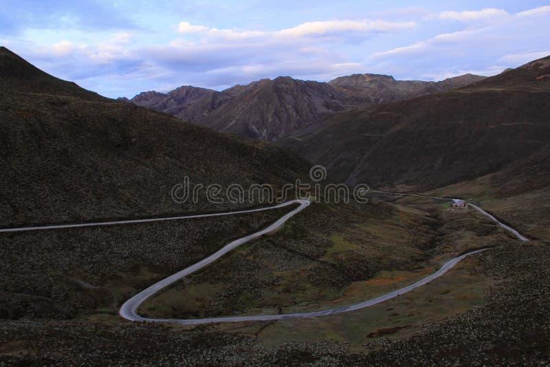 Estrada Transporte-andina fotografia de stock
