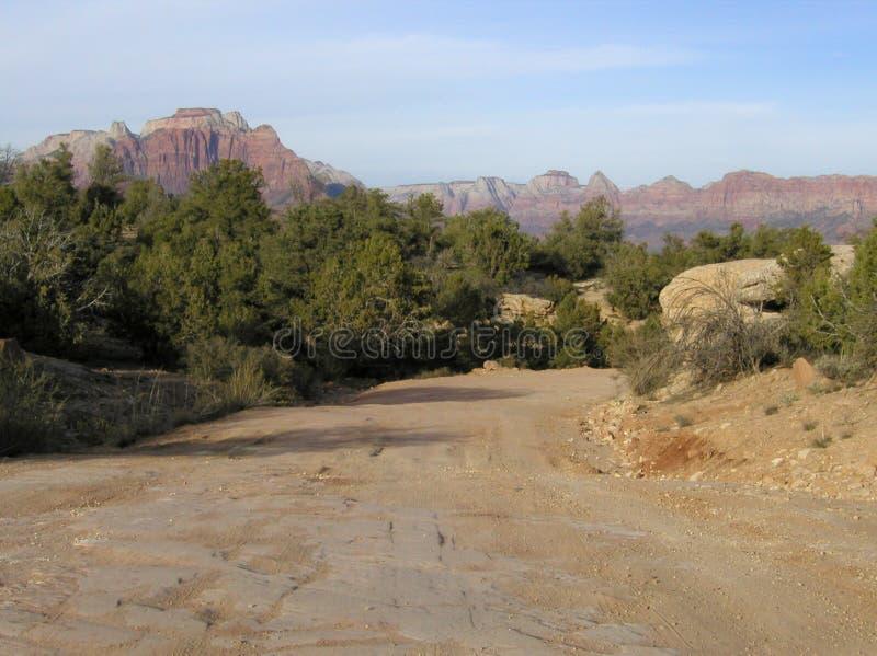 Estrada Traseira Em Zion Foto de Stock