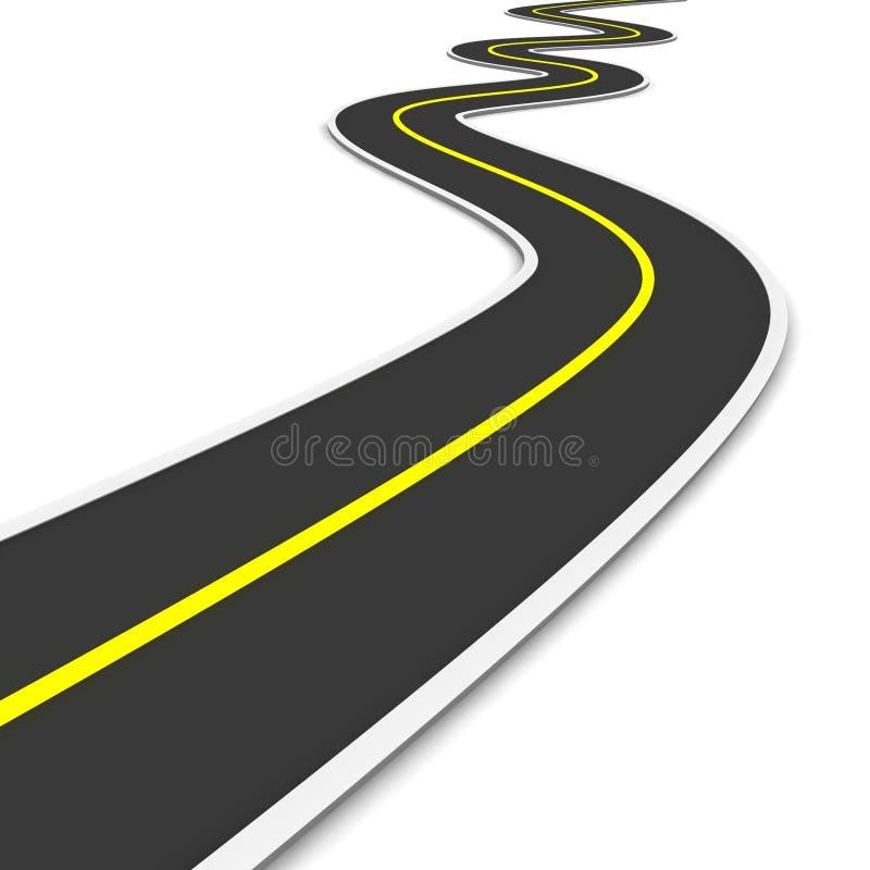 Estrada Twisty ilustração do vetor