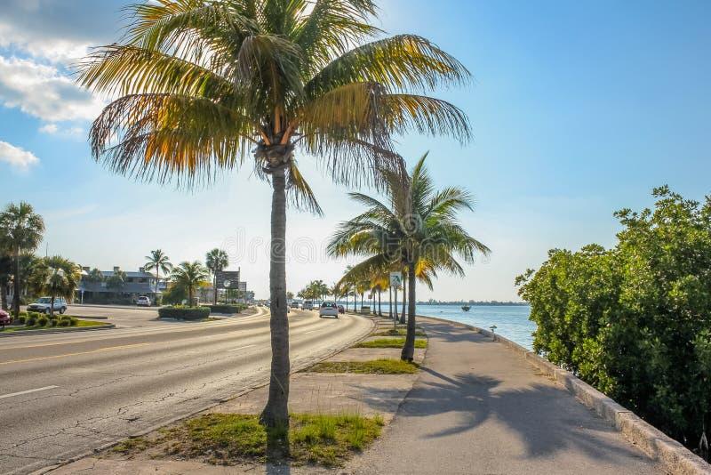 Estrada ultramarina Florida fotos de stock royalty free