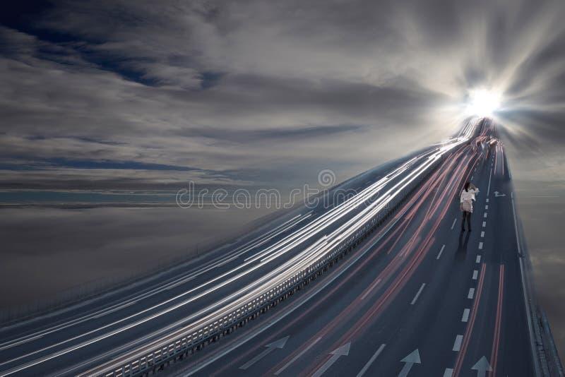 Estrada a um mundo diferente fotografia de stock