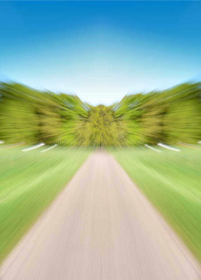 Estrada vazia com borrão de movimento fotos de stock