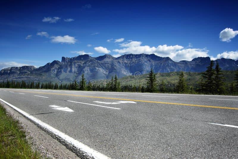 Estrada vazia em Canadá fotografia de stock