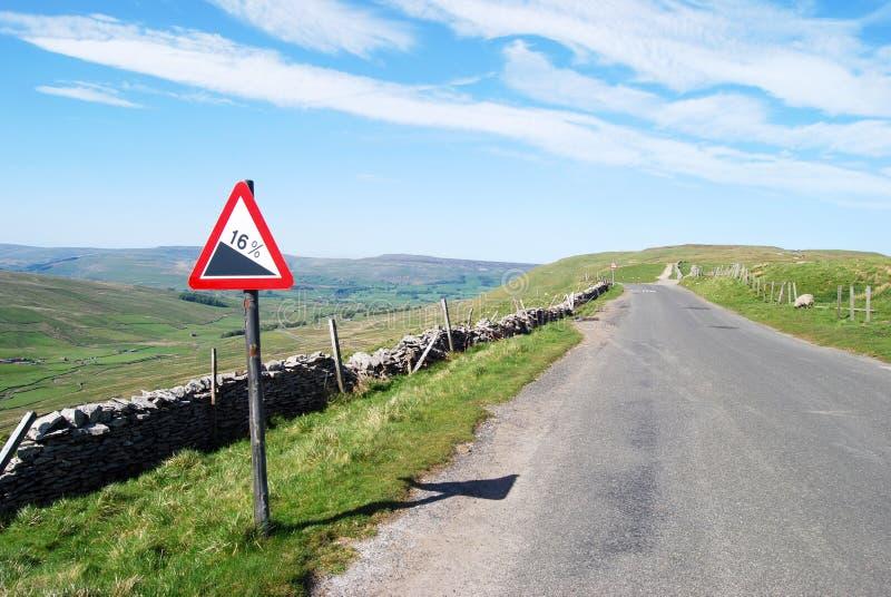 Estrada vazia em dales de Yorkshire fotos de stock