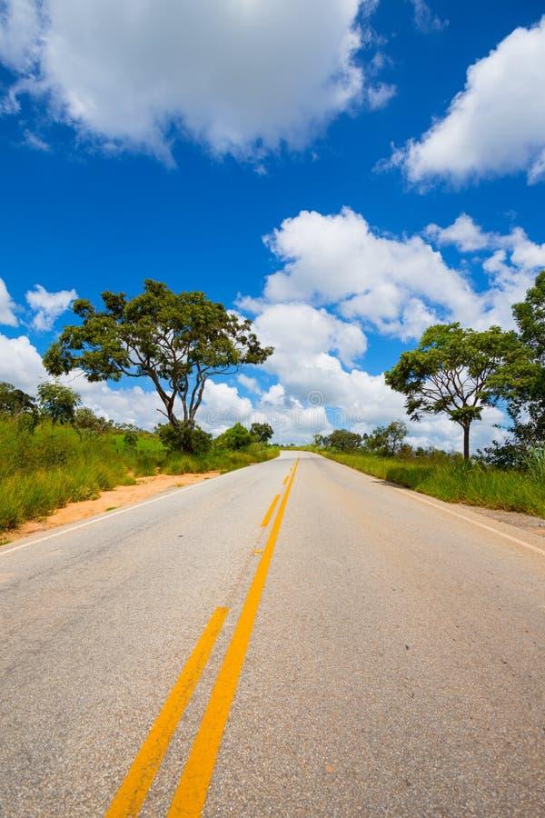 Estrada vazia no Brasil foto de stock