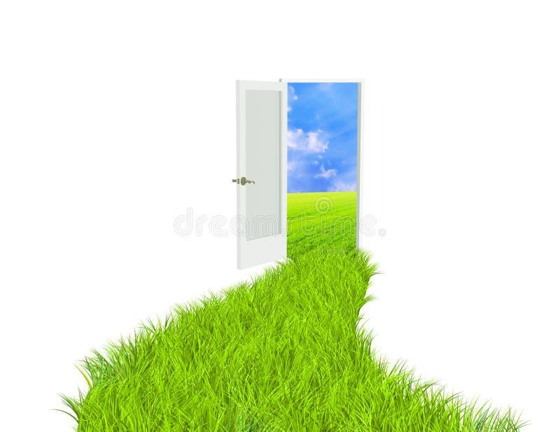 Estrada verde ilustração stock