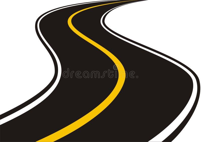 Estrada (vetor) ilustração stock