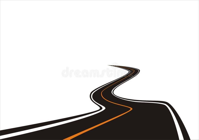 Estrada (vetor) ilustração do vetor