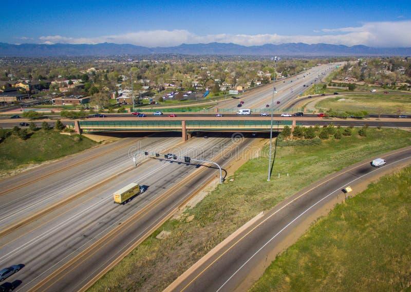 Estrada 36, Westminster, Colorado foto de stock