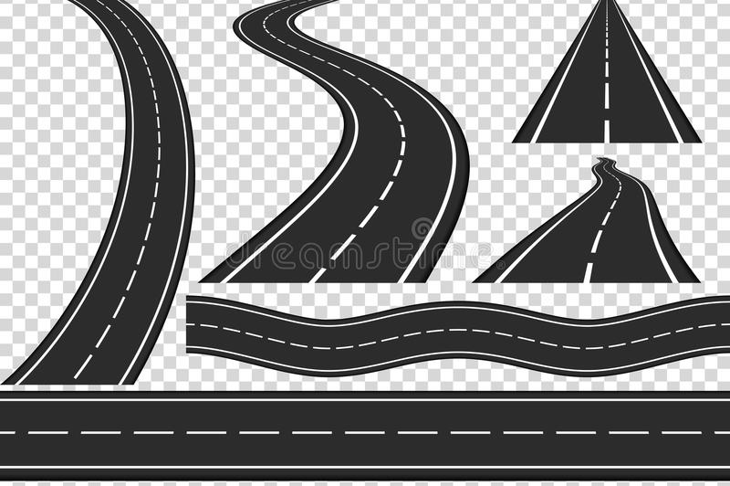 estradas ilustração royalty free