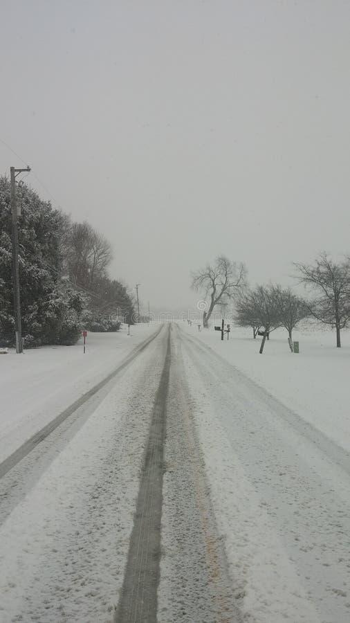 Estradas da neve foto de stock