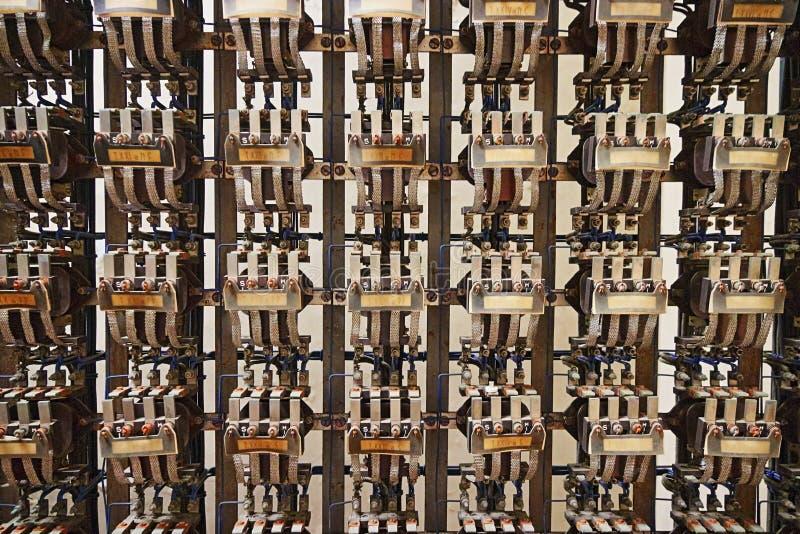 Estradas de ferro: dentro do depósito da estação de Roma Termini imagens de stock