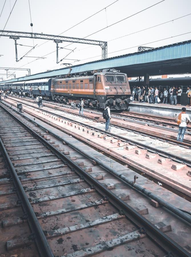 Estradas de ferro indianas, Nova Deli, Índia imagens de stock royalty free