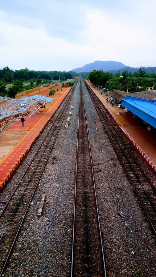 Estradas de ferro indianas fotografia de stock royalty free