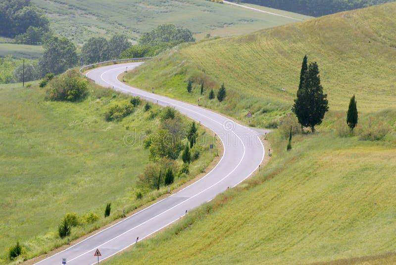 Estradas de Toscânia imagem de stock royalty free