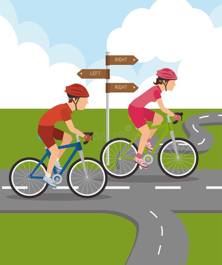 estradas e projeto das maneiras ilustração stock