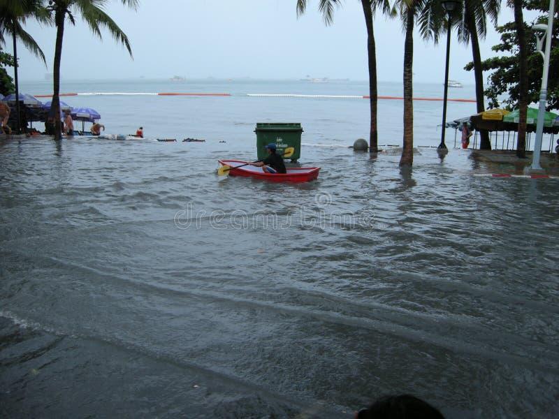 Estradas inundadas, Pattaya imagem de stock royalty free