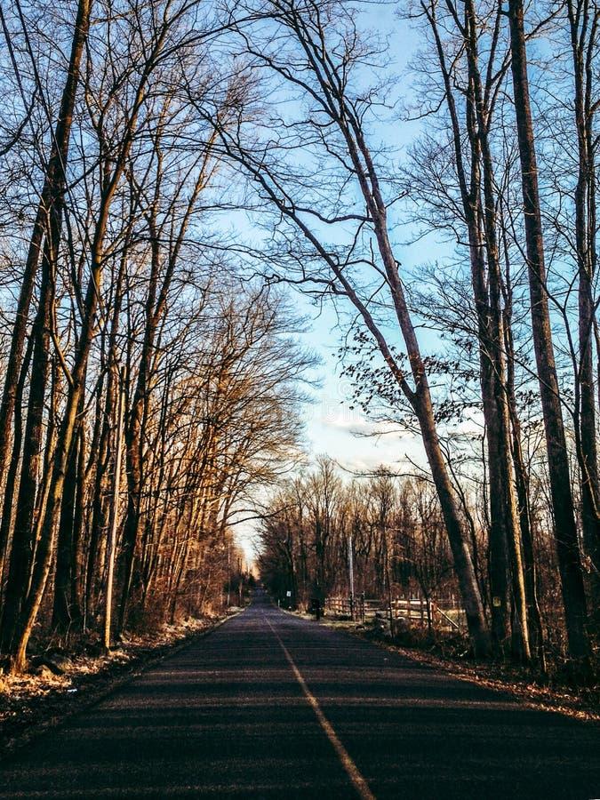 Estradas secundárias fotografia de stock