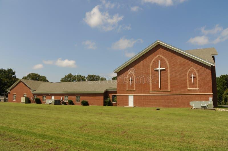 Estradas transversaas Baptist Church Arlington, TN fotografia de stock