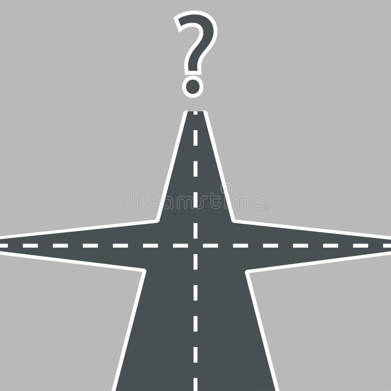 Estradas transversaas das estradas ilustração royalty free