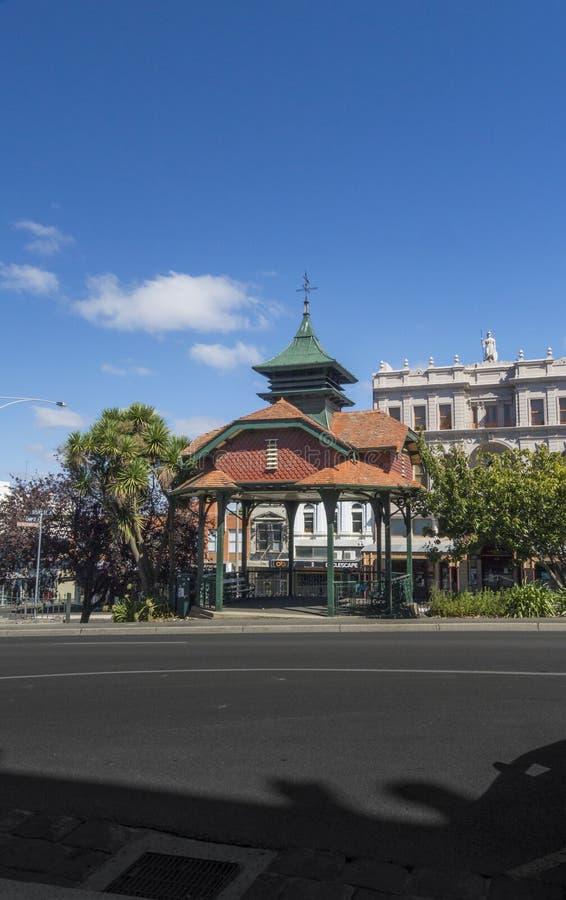 Estrado de la orquesta conmemorativo titánico, Ballarat, Australia fotos de archivo