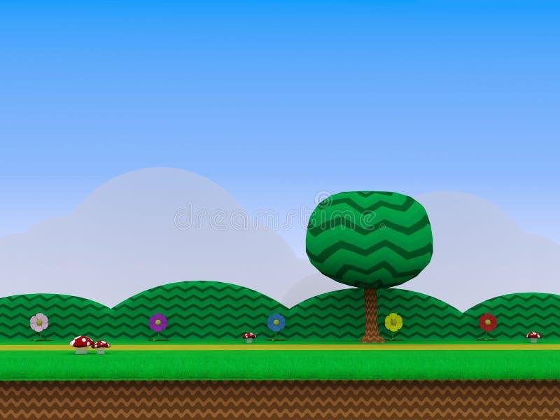 Estradowa Wideo gry tła 3D ilustracja royalty ilustracja
