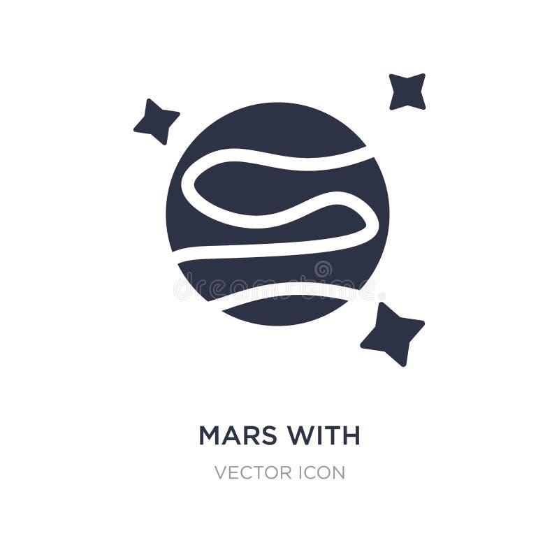 estraga com ícone satélite no fundo branco Ilustração simples do elemento do conceito da astronomia ilustração do vetor