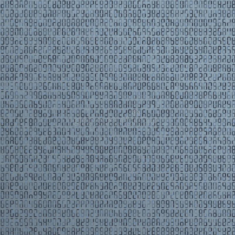 Estrangeiro azul, código de computador incompreensível abstraia o fundo Ataque do cabouqueiro Conceito gerado do código de comput ilustração stock